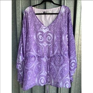 Jennifer Lopez Purple Tunic Plus Size 3X